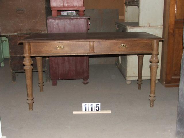Méretek:149,5x78,5x77 Régi tölgy ebédlő asztal