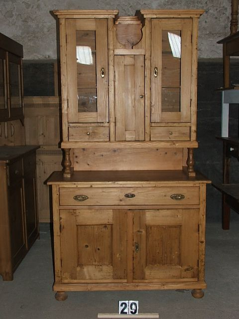 Méretek:112x204x48 Régi fenyő konyhaszekrény,fiókos szekrény,tálaló,méh viaszolt